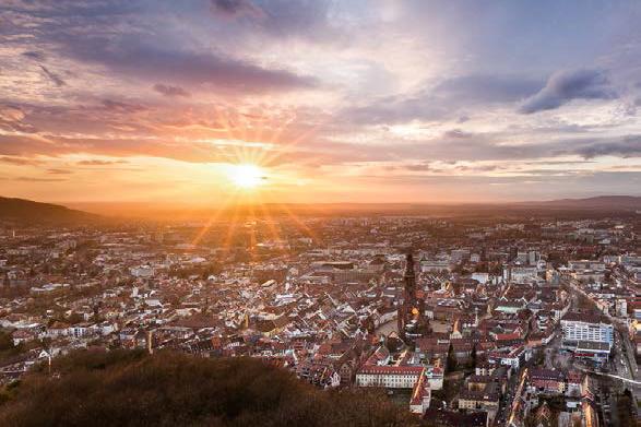 Blick auf Freiburg vom Schlossberg aus